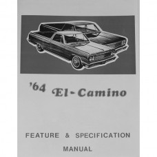 El Camino Facts And Features Manuals, 1964