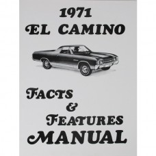 El Camino Facts And Features Manuals, 1971