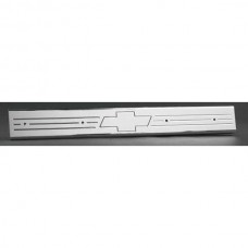 1967-72 Chevy Truck Billet Door Sill Plates With Bowtie Logo-Polished