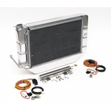 1955-1957 Chevy Griffin Thermal Cross-Flow Radiator Kit Polished Aluminum Complete