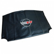 Corvette Roof Panel Bag, C4, Embroidered, Black With Logo, 1984-1996
