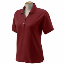 C4 1984-1990 Women's Custom Embroidered Pima Cotton Polo, Red, S-4X