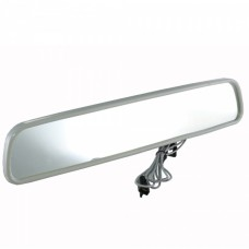 "1953-1982 Corvette Premier Quality Products, 12"" Inside Rear View Mirror with Map Light, Silver"