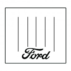 1928-1929 Ford Model A ShowBedder Panel Delivery Bed Floor Cover with F-001 Ford Script