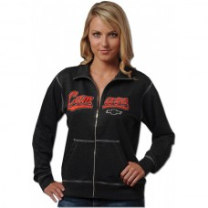Camaro Sweatshirt, Ladies, Full Zip Track Jacket With Contract Stitching