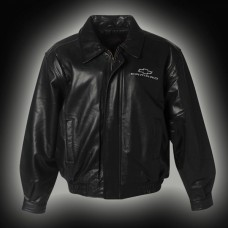 Camaro Jacket, Leather, Bomber, With New Camaro Emblem