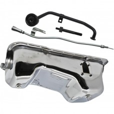 1949-1959 Ford Small Block V8 Oil Pan Conversion Kit with Chrome Finish