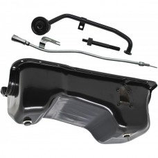 1949-1959 Ford Small Block V8 Oil Pan Conversion Kit with Black Finish