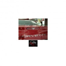 American Car Craft 3rd Brake Light Trim, Polished, Stainless Steel, With C5 Logo| 032047 Corvette 1997-2004