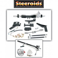 1958-1962 Corvette Steeroids Rack & Pinion Conversion Kit With Power Steering Chrome Column