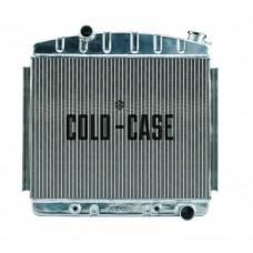 1957 Chevy Tri-FiveCold Case Performance Polished Aluminum Radiator, Big 2 Row, 6-Cylinder Position