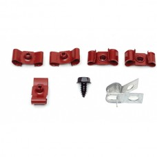 """1964-1967 Chevelle Fuel Line Retaining Clips, Double, 5/16"""" & 1/4"""", For Cars With Return Line"""