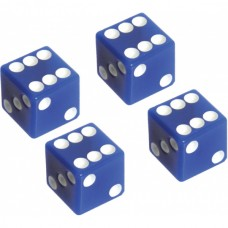 1955-1979 Ford Thunderbird Valve Stem Caps, Set Of 4, Blue Dice