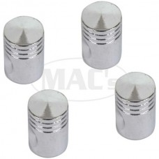 1955-1979 Ford Thunderbird Valve Stem Caps, Set Of 4, Chrome Pistons