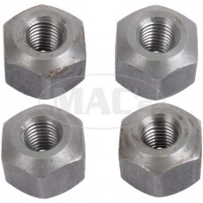 1955-1957 Ford Thunderbird Hex Nut Set, 4 Pieces, For Stamped Steel Valve Covers, 292 & 312 V8