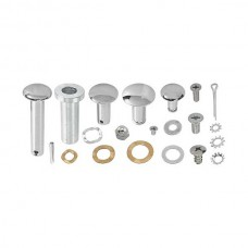 1955-1956 Ford Thunderbird Top Frame Pin Kit, 12 Pins & 12 Retainers, Polished, Through Mid 1956
