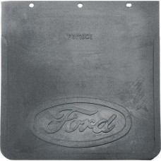 1961-67 Ford Econoline Mud Flap, Rubber-Embossed Ford Script, 9-3/4 X 10-3/4