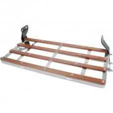 1928-1931 Ford Model A Luggage Rack, Chrome Plated With Wood Strips