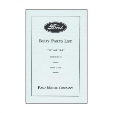 Body Parts List - A & AA - 1928-1931