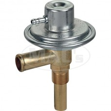 1955-1957 Ford Thunderbird Heater Hot Water Control Valve, Brass Housing With A Copper Tube & An Aluminum Vacuum Chamber