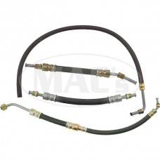 1955-1956 Ford Thunderbird Power Steering Hose Kit, With Female Fitting On The Pressure Line