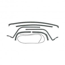 1956-1957 Ford Thunderbird Hard Top Roof Rail Seal Kit, 7 Pieces, From 3-1-56