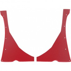 1957 Ford Thunderbird Quarter Panel Cardboard, 2 Pieces, Red