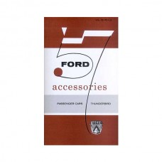 1957 Ford Accessory Catalog, Passenger Car and Thunderbird - 35 Pages