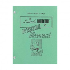 1949-51 Lincoln and Mercury Overhaul Set and Shop Manual - 860 Pages