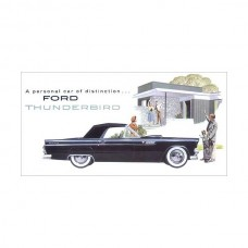 1955 Ford Thunderbird Dealer Sales Foldout Brochure