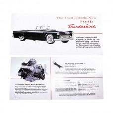 1955 Ford Thunderbird Dealer Sales Brochure, Foldout Type