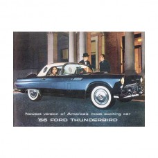 1956 Ford Thunderbird Dealer Sales Foldout Brochure