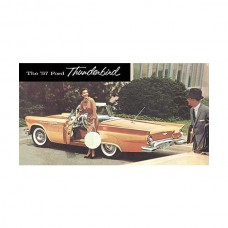 1957 Ford Thunderbird Dealer Sales Brochure, Full Color On Both Sides, Folds Out To 13 x 24