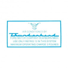 Ford Thunderbird Air Conditioning Decal, Air Conditioning Evaporator Case, 1958-60