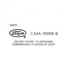 Ford Thunderbird Air Conditioning Decal, Air Conditioning Dryer, 1964-66