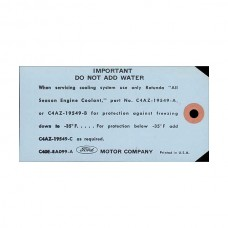 Cooling System Tag - Mercury