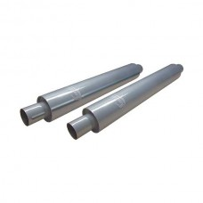 1958-1966 Ford Thunderbird Smithy's Muffler, 26 Case, Fiberglass Packing, 3-1/2 Case Diameter, 2 Inlet and Outlet, Pair