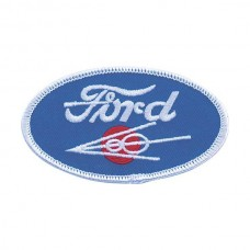 1955-1966 Ford Thunderbird Cloth Patch, Oval Ford V8 Emblem