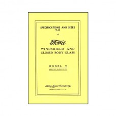 Model T Window Glass Specs - 14 Pages - 47 Illustrations