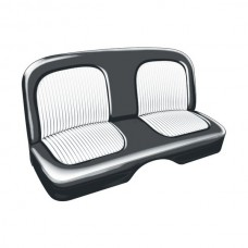 1955 Ford Thunderbird Seat Covers, Black With White Inserts