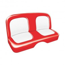 1955 Ford Thunderbird Seat Covers, Red With White Inserts