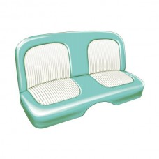 1955 Ford Thunderbird Seat Covers, Turquoise With White Inserts