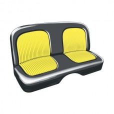 1955 Ford Thunderbird Seat Covers, Black With Yellow Inserts