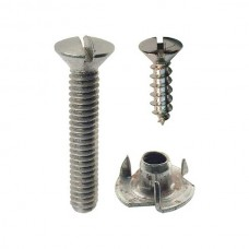 Ford Top Iron Fastener Set - Ford Cabriolet & Ford Convertible Coupe & Ford Convertible Sedan - 24 Pieces
