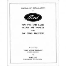 Radio Installation Handbook - 8 Pages - Ford