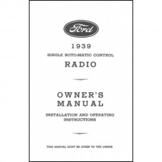Radio Installation Handbook - 15 Pages - Ford