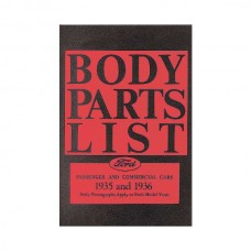 Body Parts List - Ford Passenger & Commercial Cars - 76 Pages