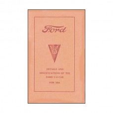 Details & Specifications Of The Ford V8 For 1934 - 59 Pages