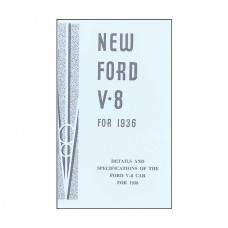 Details And Specifications Of The Ford V8 Car For 1936 - 64Pages