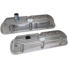 """302"" ""Powered By Ford"" Polished Aluminum Valve Cover"